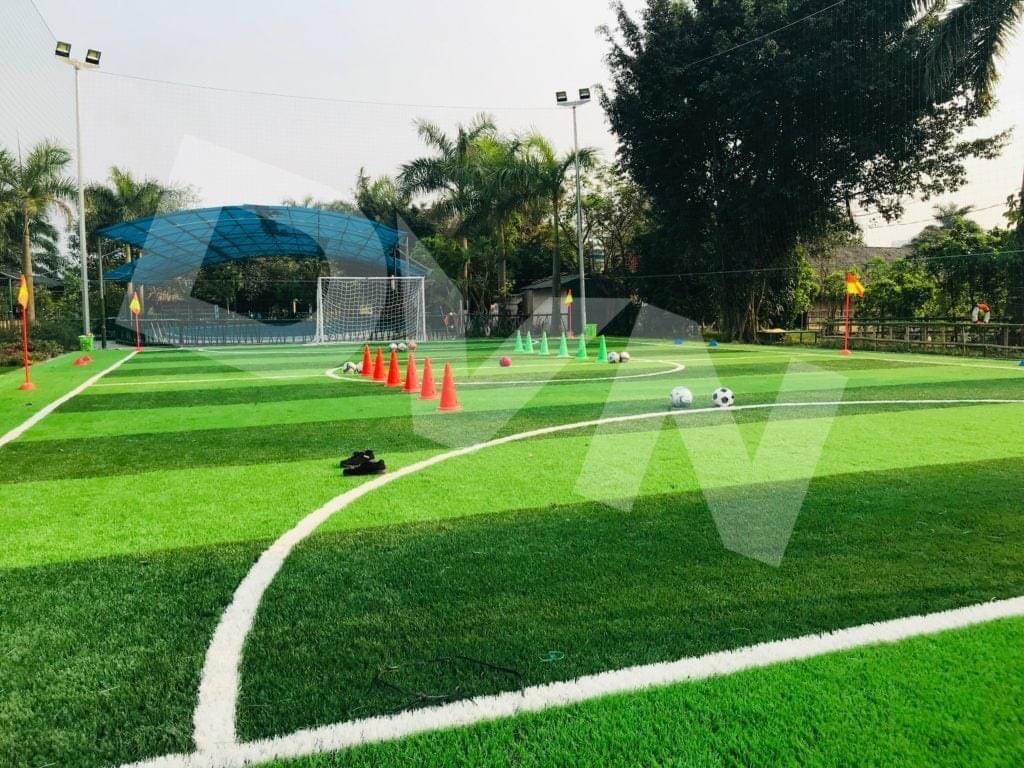 2. Kinh phí thi công sân banh cỏ nhân tạo 5 người Hậu Giang 1